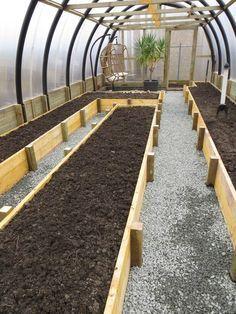 Growing In Winter In Raised Beds In Greenhouse Google Search Greenhousefarm Idee Giardino Orto Giardino Di Erbe Aromatiche Orti Rialzati