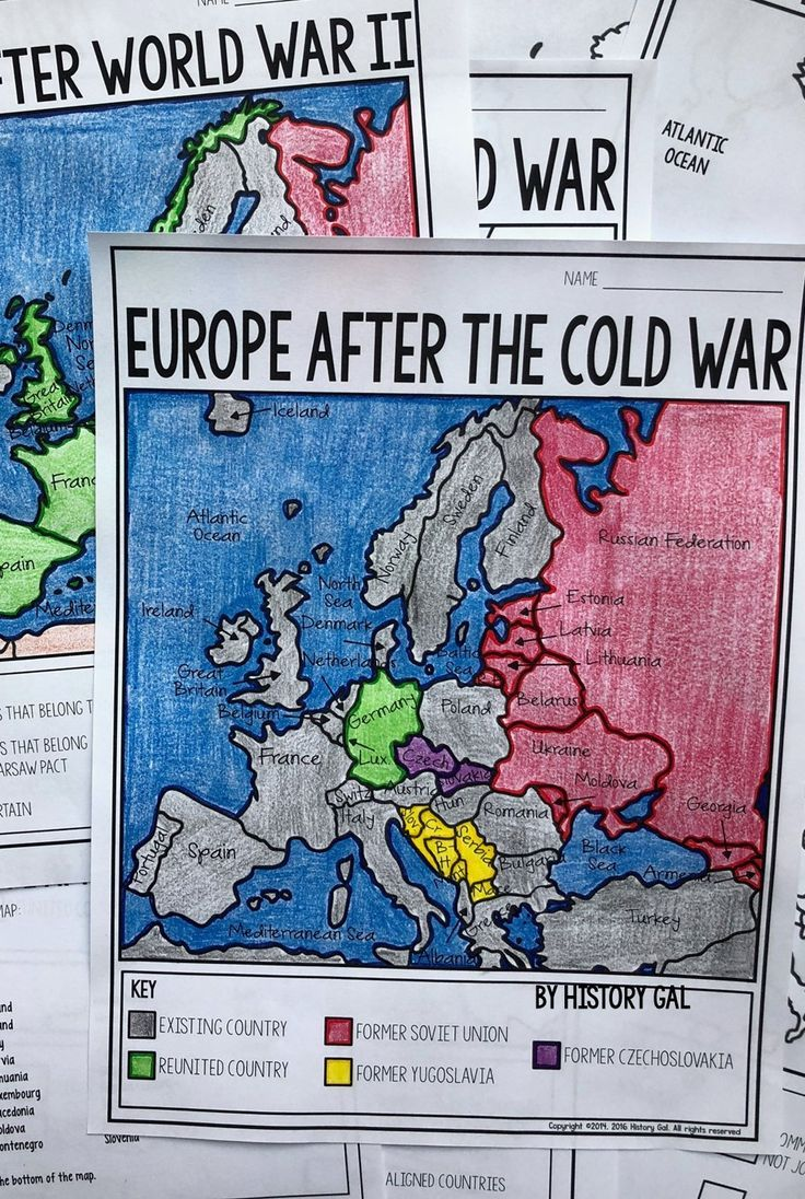 These Two Maps Will Help Students Become More Familiar With Europe During And After The Cold War Students W Cold War Map Map Activities World History Teaching