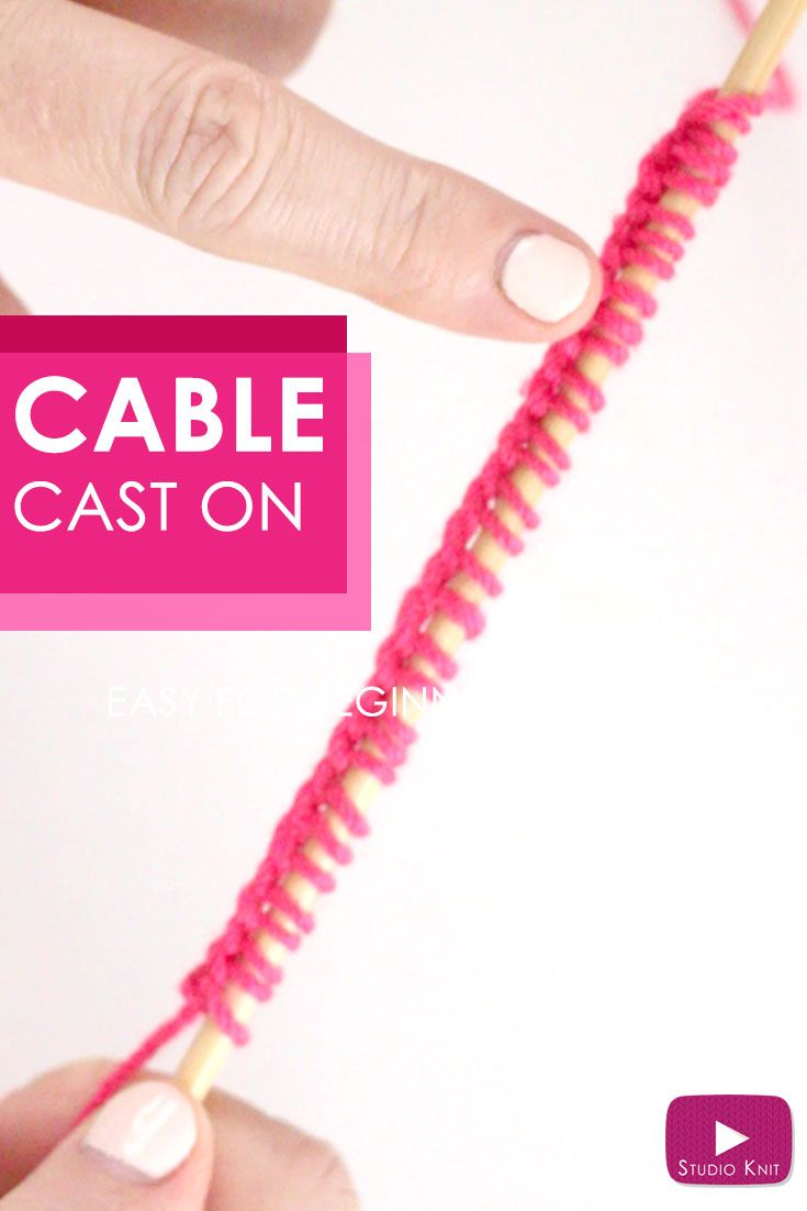 How to Knit the Cable Cast On Knitting Technique with Free Video Tutorial by Studio Knit via @StudioKnit