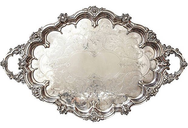 1860s Large French Tray