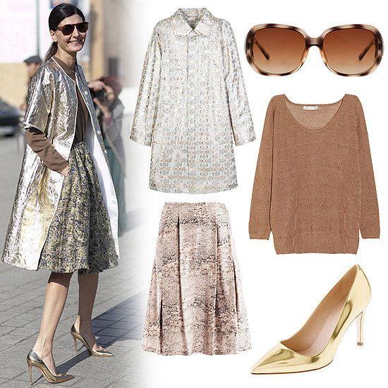 Giovanna Battaglia's Street-Style Metallics | POPSUGAR Fashion