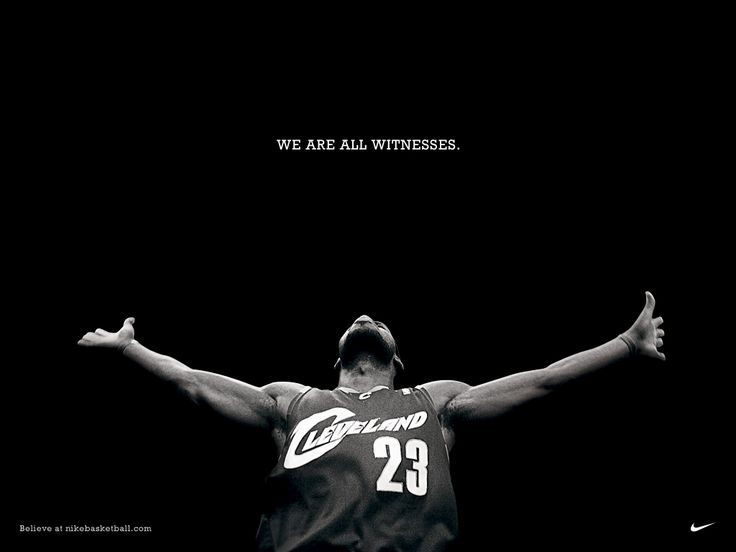 Love this piece by Nike for Lebron. It was positioned as an enormous billboard draped of the side of the Cleveland Cavaliers stadium facing the highway. Simple clean work, but makes a strong impressionable statement. Love the minimalist style.