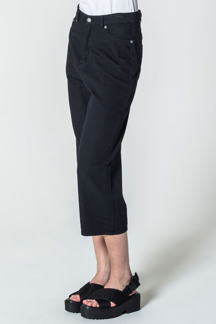 Omega Cropped Dawn Black Jeans