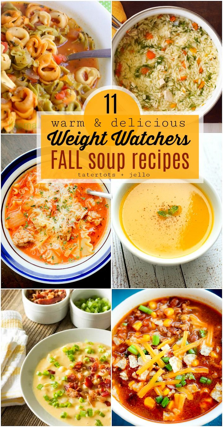 11 Warm and Delicious Fall Weight Watchers Soup Recipes