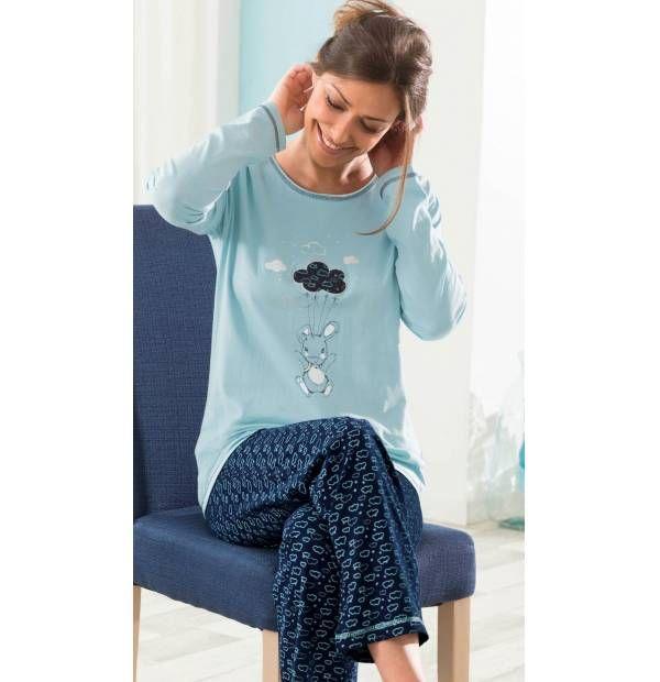 Pyjama brodé Dans les nuages