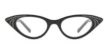 It's a whole lot of look, but at least the look is fun.  Rock! Deborah -  Party Plastic Eyeglasses