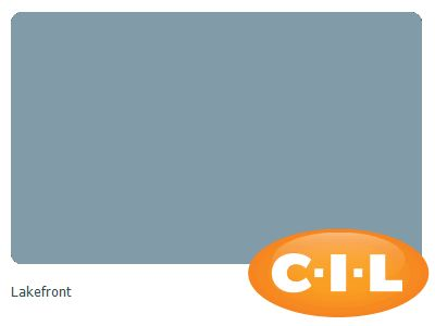 Look at this gorgeous CIL paint colour I found at CIL.ca!  It's Lakefront 90BG 31/124.