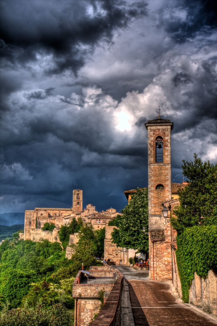 Montalcino , province of Siena, Tuscany region , Italy Home of the famous Brunello, one of the best red wines.