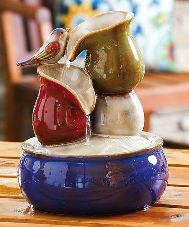 Another great find on #zulily! Blue & Tan Ceramic Flowing Water Fountain #zulilyfinds