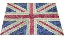 152x245 cm British Flag design PATCHWORK Rug