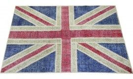 152x245 cm British Flag design PATCHWORK Rug