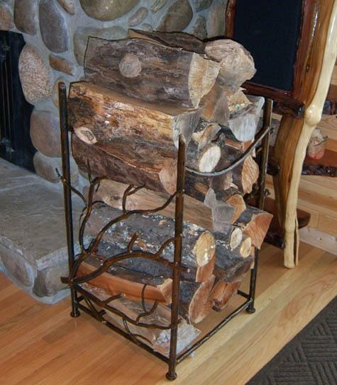 forged metal firewood but soooo perfect
