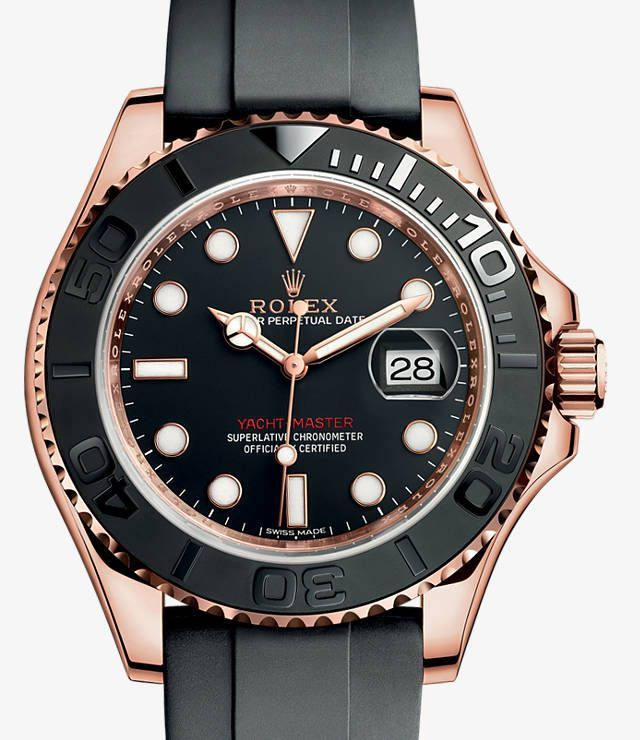 Rolex Yacht-Master 40 Watch: 18 ct Everose gold - 116655 - cheap mens gold watches, mens watches on sale, mens watches online sale