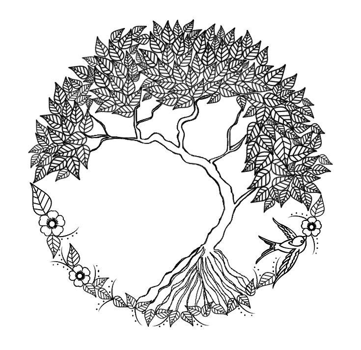 Tree Of Life Zentangle by AmaranthLightRose @ deviantART