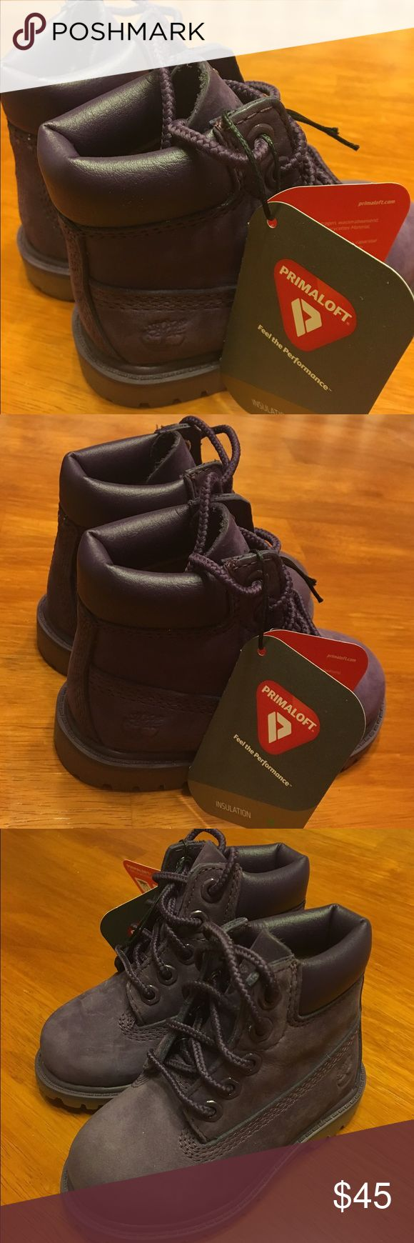 NWT- toddler size 5 purple timberland boots New with tags- never worn- purple Timberland boots- toddler size 5 Timberland Shoes Boots