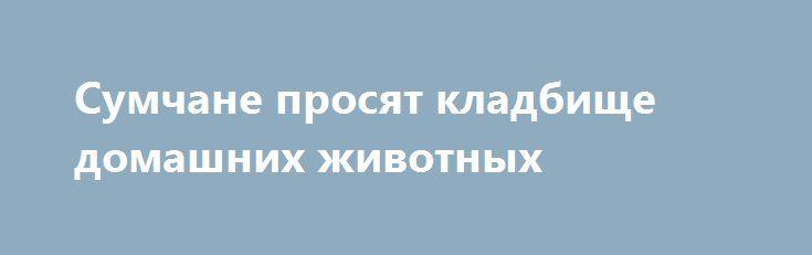 Сумчане просят кладбище домашних животных http://sumypost.com/sumynews/obwestvo/sumchane_prosyat_kladbiwe_domashnih_zhivotnyh  На местном сайте электронных петиций начался сбор подписей под петицией о создании в городе кладбища для домашних питомцев.