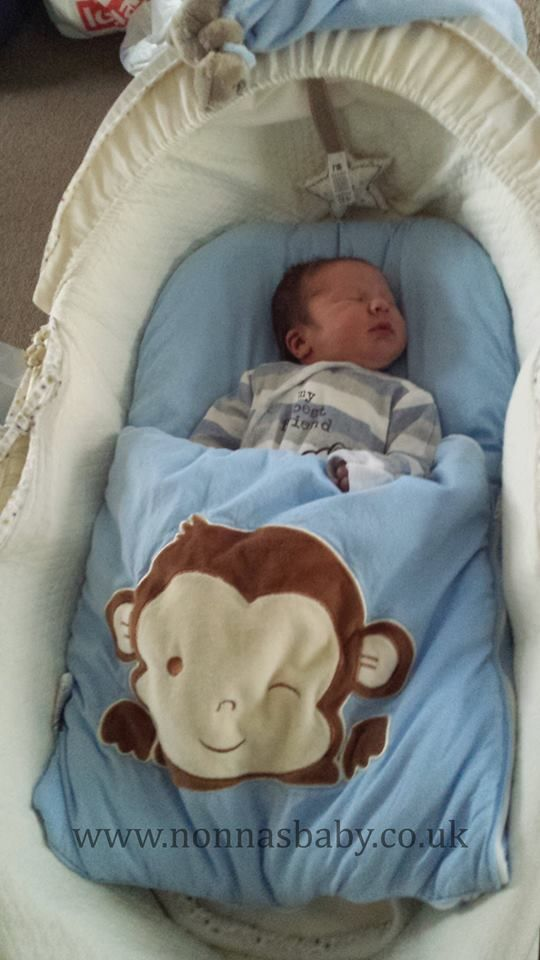 """Connor loves his Monkey Nap Mat! The little man is so cute and comfy in it. Mummy Emma said """"He sleeps so well on it either in his Moses basket or in the Carry cot part of his pram."""" Nonna is delighted! :-) • Find out more about nap mats here: https://nonnasbaby.co.uk/baby-nap-mats/"""