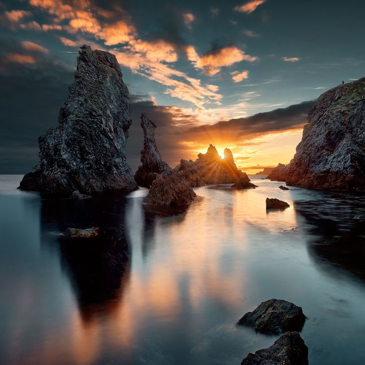 sunset | port coton | belle ile en mer | brittany, france