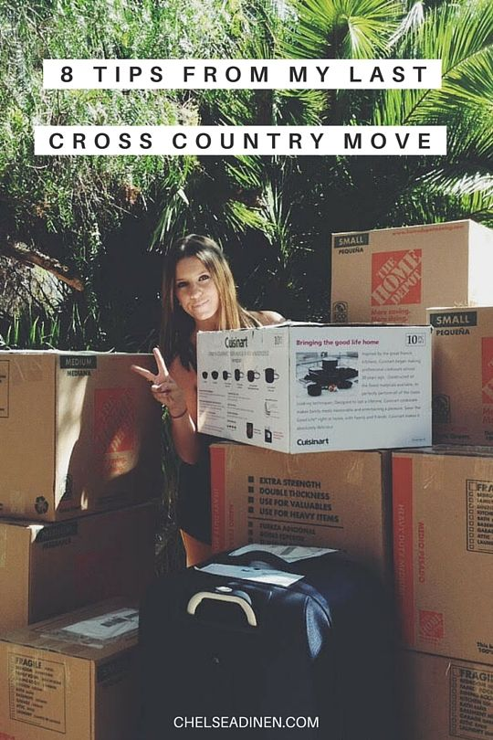 Not only is moving cross country life-changing but so is the experience of driving cross country. Here are tips from my last cross country move! | ChelseaDinen.com #moving