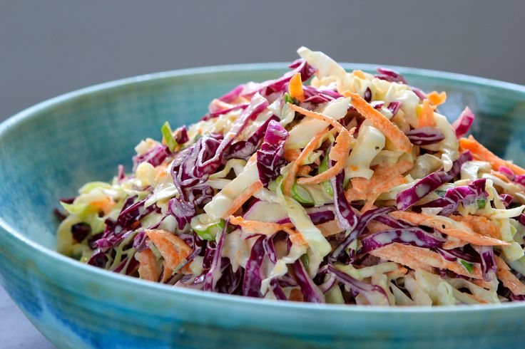 Fresh, colorful and delicious! This #BBQ staple Classic Cole Slaw is easy and feeds a crowd. Click on the image for the recipe.