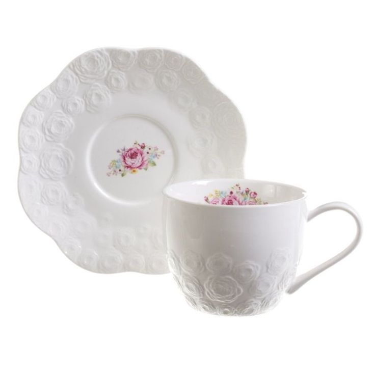 Rosses romantic cup #dekoriapl #kettle #roses #mug #cup #porcelain #garden #inspirations #sweety #cookie #yummy l