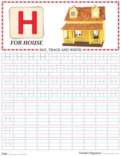 capital letter writing practice worksheet alphabet h download free capital letter writing. Black Bedroom Furniture Sets. Home Design Ideas