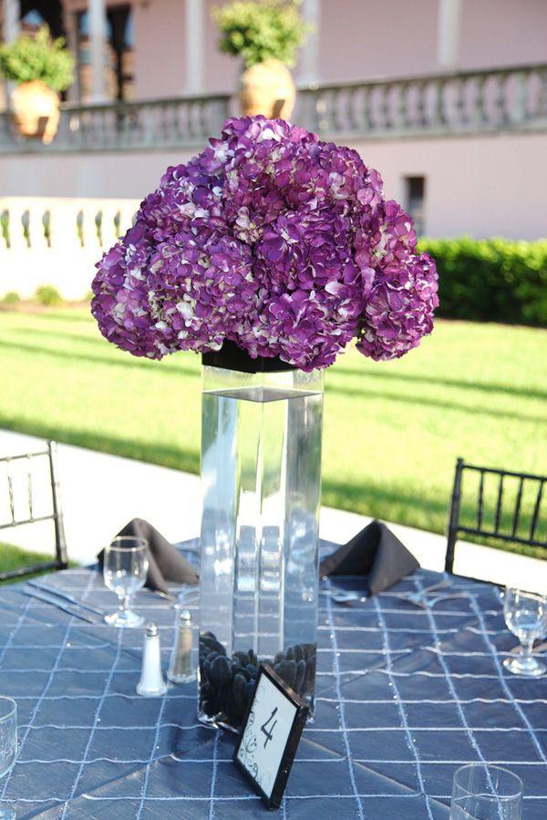 Purple and green hydrangea centerpieces pixshark