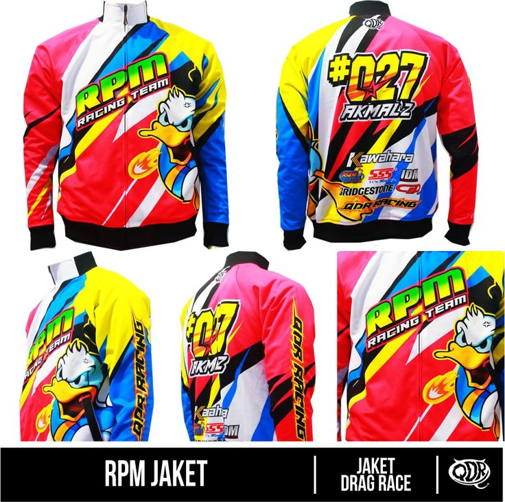 Jaket Drag Race - RPM Bahan: lotto(pakai daleman puring) printing: sublimasi (Gratis penambahan nama,nomer,sponsor/custom desain sendiri) pemesanan hub: BBM 543d3dbb Qdr Online shop WA 081222970120