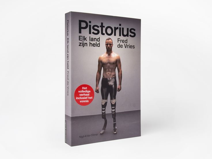 For Nijgh & van Ditmar we did the typography and graphic design for the book cover of the biography of Pistorius.