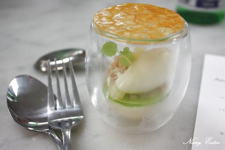 "Anna Polyviou dessert "" Re-freshen Apples"" @ Shangri-La Hotel Sydney - Looks like green garden in a jar, pretty"