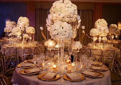 1940s centerpiece ideas   And a fun website with the top 7 royal wedding trends !