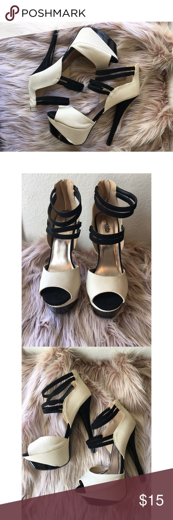Charlotte Russe heels Super cute high heels! Really comfortable in great condition! Charlotte Russe Shoes Heels
