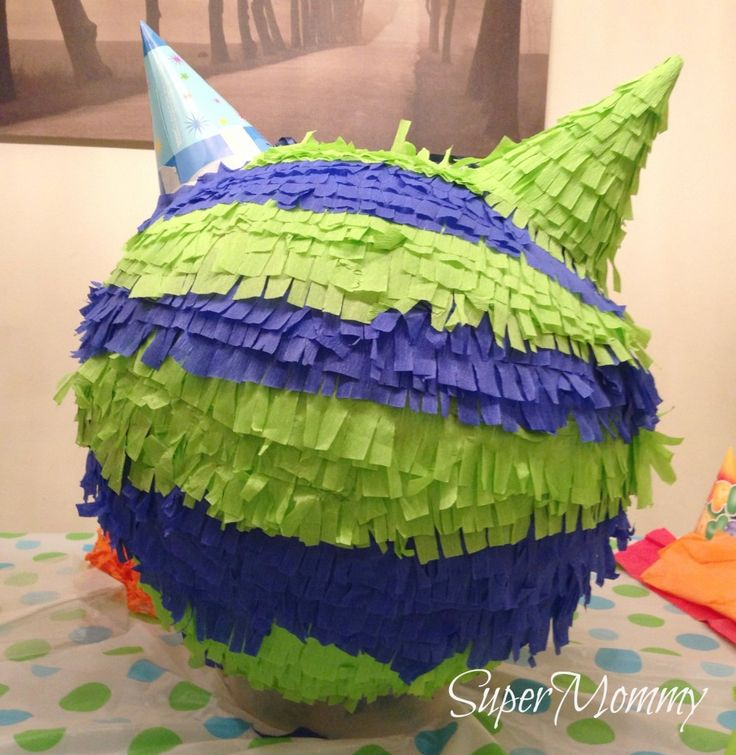 How To Make & Decorate A Monster Pinata