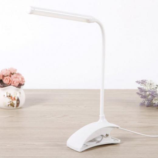 Flexible Led Reading Light Clip-on Beside Bed Table Desk Lamp For Student Office