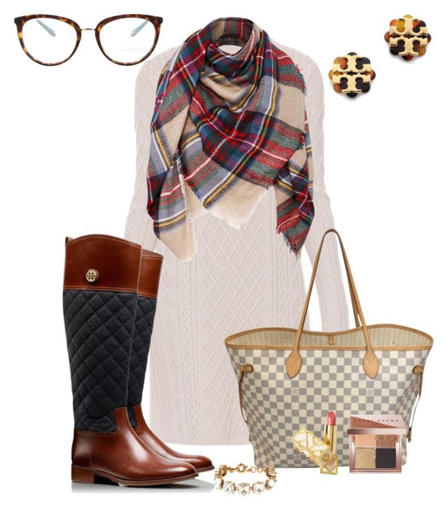 """Say Hello to Winter White"" by prepstepkate on Polyvore featuring 'S MaxMara, Tiffany & Co., Tory Burch, Louis Vuitton, Bobbi Brown Cosmetics and J.Crew"