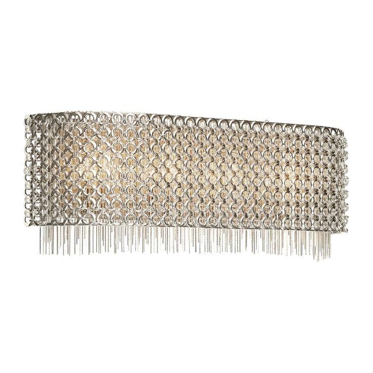 Elan Elauna 1-Light 7-in Brushed Nickel Rectangle Vanity Light Bar