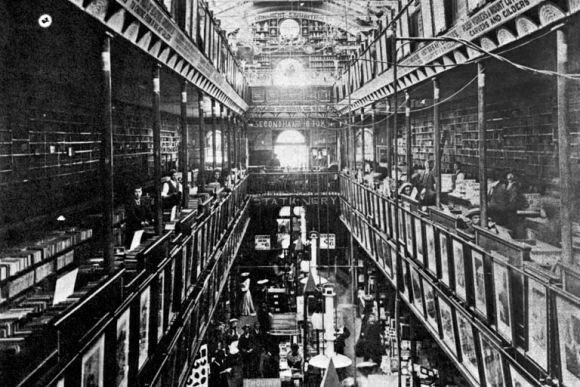 The interior of Cole's Book Arcade at 299 Bourke St,Melbourne.