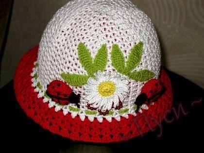 Ladybug Hat free crochet graph pattern
