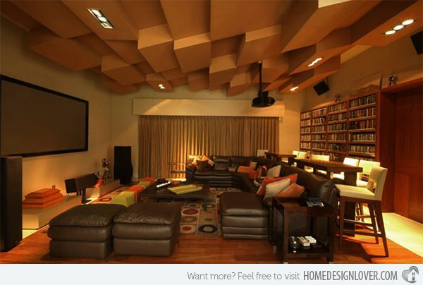 Contemporary media room designs –  – #GamerRoom|DIY