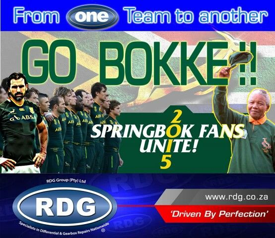 From one team to another - Go Bokke!!!