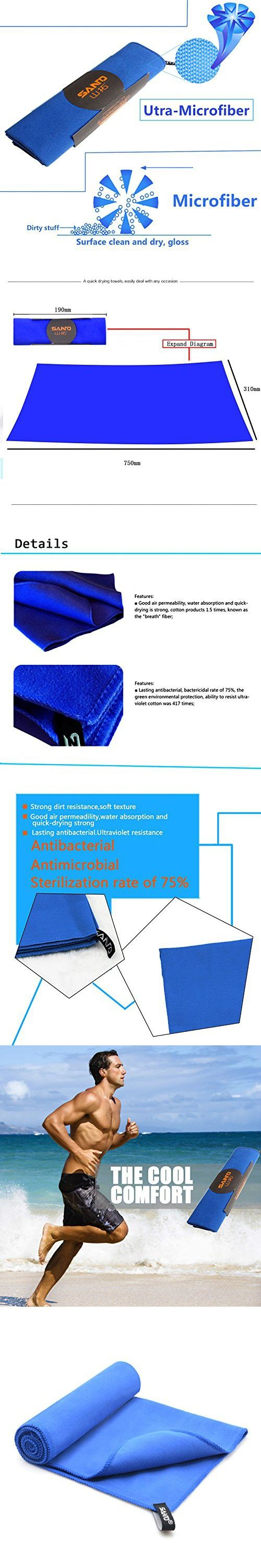 Be Young Quick Dry Towel,Microfiber Towel,Sports Towel,Yoga Towel,Best Travel Towel,Swim Towel,Camping Towel,Lightweight,Highly Absorbent,Suitable for Camping, Gym, Beach, Swimming, Backpacking (Blue)