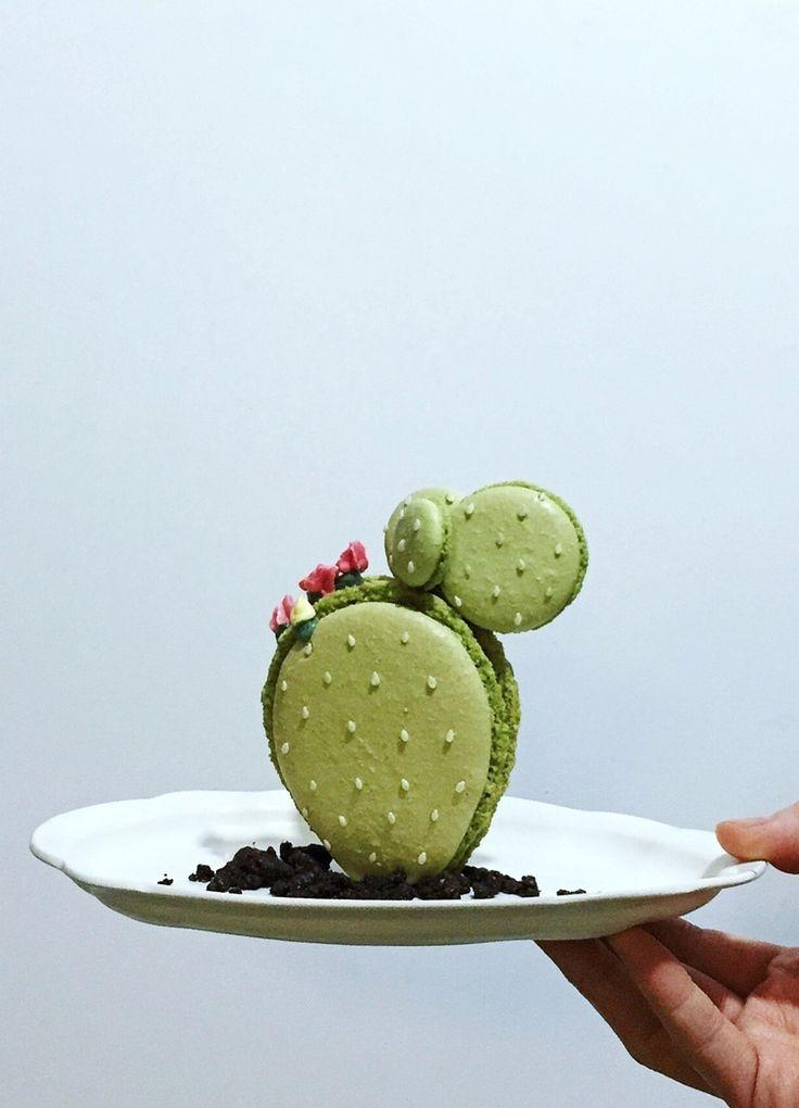 Macaron Cactus. Faites le plein d'exotisme sur notre tableau Pinterest Urban Jungle https://fr.pinterest.com/bonjourbibiche/urban-jungle/ #inspiration #vert #bonjourbibiche