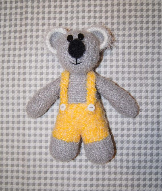 Crochet coala teddy bear - handmade crochet soft teddy bear - handmade stuffed toy - yarn stuffed toy - stuffed plush animal - toy coala