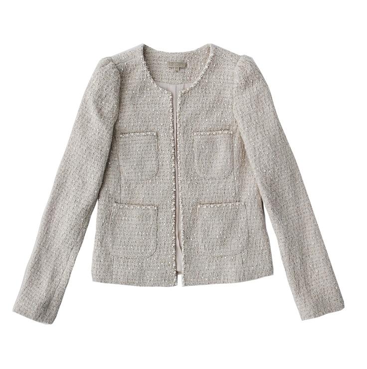 Pearl U0026 Sequin Embellished Tweed Jacket | Chanel Style Jacket | Pinterest | Sequins Tweed And ...