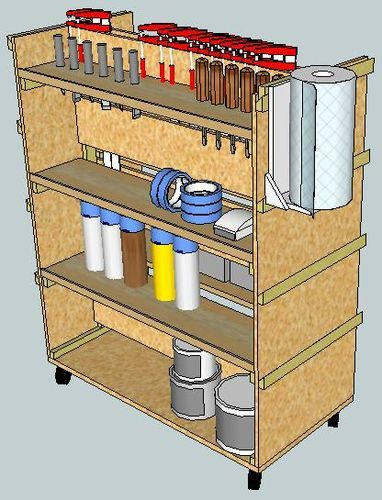 Virtual Designs in Sketchup #3: Rolling Tool Cart - by rance @ LumberJocks.com ~ woodworking community