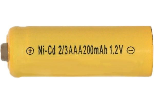 2/3 AAA NiCd Button Top Battery (200 mAh)