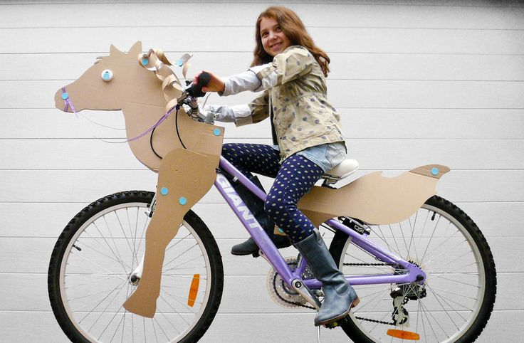 The other day I was thinking of making my bike into a cardboard horse. Someone beat me to it! Now I need to race to make the first cardboard western.