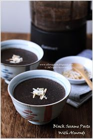 Cuisine Paradise | Singapore Food Blog | Recipes, Reviews And Travel: Black Sesame Paste With Almonds Using Cuisinart Hot And Cold Blender
