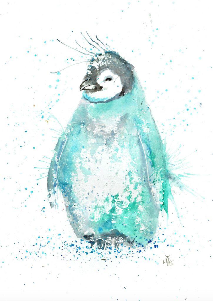 Marv A3 penguin print | Jamie Taylor Art