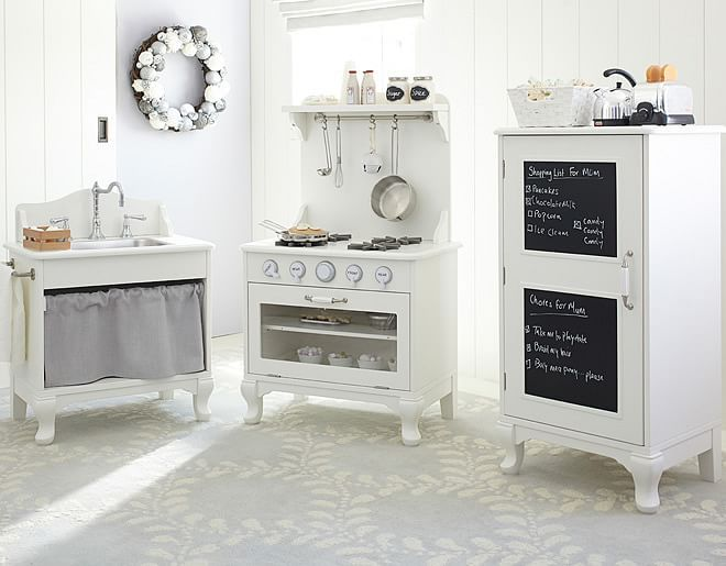 Inspiration for classroom house center. Pottery Barn Kids Farm Kitchen on potterybarnkids.com
